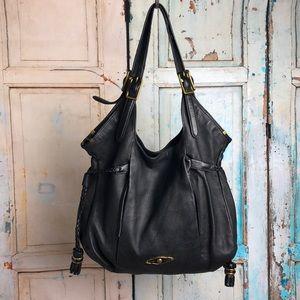 Soft black leather Elliott Lucca handbag